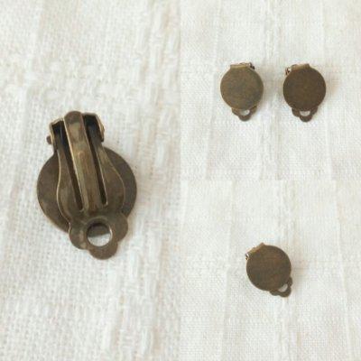 2個入 | デコ台付きクリップ 金古美 15mm | 手芸ハンドメイド