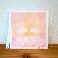 ヒーリングアート「天使ちゃん」パステル画  ピンク 〜 原画1点もの・メッセージカード付き