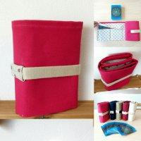 水玉タイプ  ピンク | ボイジャータロット6ポケットケース  【 全5カラー  | アイボリー・レッド・紺色・カーキ・ピンク 】