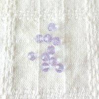 15個入 | ビーズ 6mm ラウンドカット 紫 バイオレット| 手芸ハンドメイド |アクセサリーパーツ