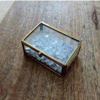 浄化ボックス(M) クリスタル アンティーク調 〜 天然石 パワーストーンの浄化に「 ひみつの小箱 」