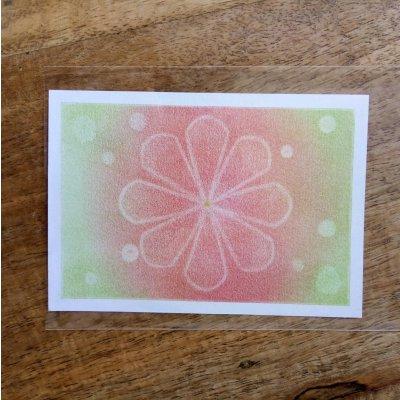 ヒーリングアート「エネルギーカード」パステル画  原画  ~ ヒーリングアート 瑠璃色小箱の画像1