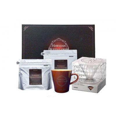 ハワイアンクイーンコーヒー 珈琲カップ&ドリッパー付プレミアムギフトJ