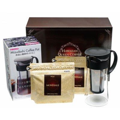 ハワイアンクイーンコーヒー 水出し珈琲ポット付プレミアムギフトW