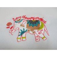 送料無料 UVカット機能 男女兼用チャリティドライポロシャツ 「幸せの象徴 象刺繍デザイン」 ゴルフウェアにもスポーツにも普段にも本当にお洒落!