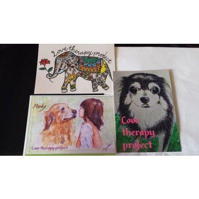 チャリティポストカード&象刺繍トートバッグセット送料無料