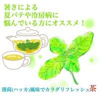 暑さによる夏バテや冷房病に悩んでいる方にオススメ!薄荷(ハッカ)風味でカラダリフレッシュ茶。