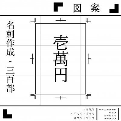 名刺デザイン作成(片面カラー/印刷300部)