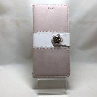 ■送料無料■iPhone6Plus/6sPlus★対応★ベルトの花が目を引く2トーン手帳型ケース♪ C-021