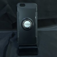 ■送料無料■iPhone6/6s★対応★カーボン風背面リング付きハイブリッドケース♪