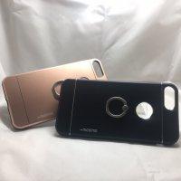 ■送料無料■iPhone7plus★対応★りんごマークでるょ♪便利なセーフティーリング付きケース♪