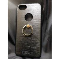■送料無料■iPhone7★対応★りんごマークでるょ♪便利なセーフティーリング付きケース♪全4色