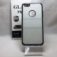 ■送料無料■iPhone6Plus/6sPlus★対応★光沢エッジ フロント+バックセット ハイブリッドケース♪