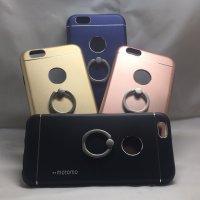 ■送料無料■iPhone6/6s★対応★りんごマークでるょ♪便利なセーフティーリング付きケース♪全4色