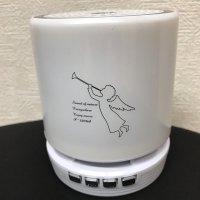 コンパクトなのに大音量!!LEDライト搭載◆bluetoothポータブルミニワイヤレススピーカー◆
