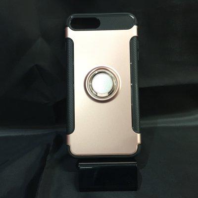 ■送料無料■iPhone7Plus★対応★カーボン風背面リング付きハイブリッドケース♪