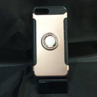 ■送料無料■iPhone7Plus★対応★カーボン風背面リング付きハイブリッドケース♪ 7p-14
