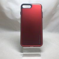 ■送料無料■iPhone7Plus★対応★カード収納可能アルミ調ハイブリドケース♪