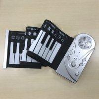 くるくる丸めて持ち運べるソフトキーボード ピアノ!!◆49KEY◆
