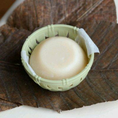 超濃厚豆乳とピュアオイルだけで手作りしました♪自然派ありが豆乳石鹸