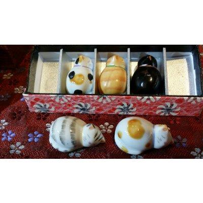 ひだまり猫の箸置き|京焼|清水焼