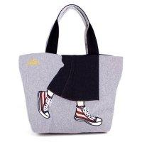 トートバッグ|キャンパスデニム|ロングスカート|mis zapatos