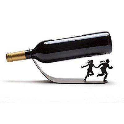 【送料無料‼】ワインの季節♡希少!♡ワインボトルホルダー|ブラック【並行輸入品】