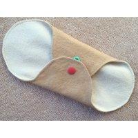 布ナプキン ライナータイプ(透湿防水布入り/無し)ハーバルブレンド染め:すくない日、冷え取り用に。