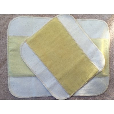 布ナプキン ハンカチタイプ(ヘナ染め)2個セット(Mサイズ:Lサイズ:各1個)