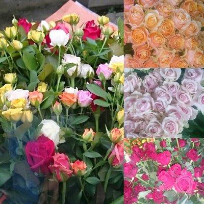 ゴージャスなバラの花束