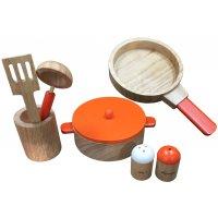 木製ままごと 鍋フライパンセット
