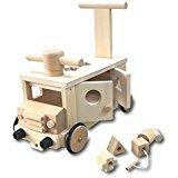 木製 乗用玩具 ぶろっくバス
