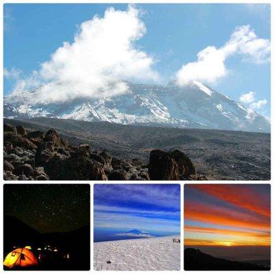 アフリカ最高峰・キリマンジャロの頂上で朝日に輝く氷河を見る 【未旅会員】