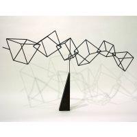 平野米三 「風雲」 金属彫刻