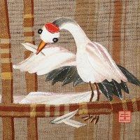 山田圭子 「鶴の恩返し」 布絵