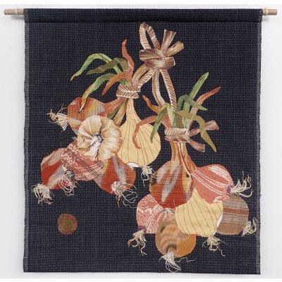 山田圭子 「玉葱」 布絵・タペストリー