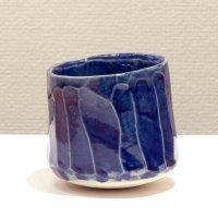テトツチト 「藍微塵」 陶器・ローリング焼酎グラス