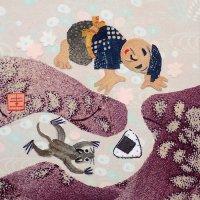 山田圭子 「おむすびころりん」 布絵