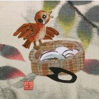 山田圭子 「したきりすずめ」 布絵