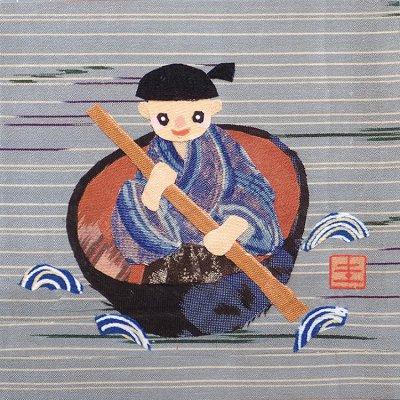 山田圭子 「一寸法師」 布絵