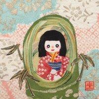 山田圭子 「かぐや姫」 布絵