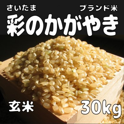 玄米30kg 彩のかがやき