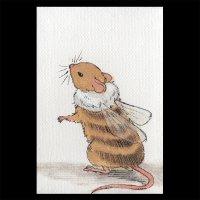 ポストカード【ハチネズミ1】