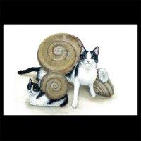 ポストカード【猫でんでん2】