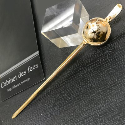 《10%OFF》カンザシ【真珠玉】ー猫玉