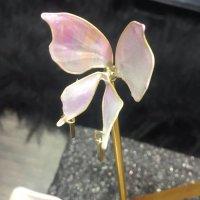 カンザシ【ひらり舞う】ー胡蝶(ピンク)
