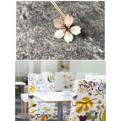 【ワークショップ】桜のネックレス手作り体験・お茶ケーキ付き