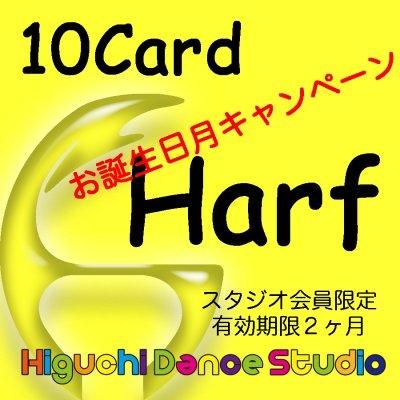 お誕生日月キャンペーン・ハーフクラス 10カード(スタジオ会員限定)