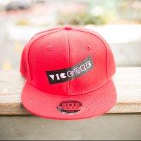 viccore ボックスロゴキャップ RED