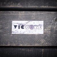viccore ボックスロゴステッカー